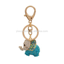 Shiny rhinestone elephant keychain