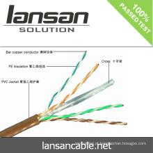 LANSAN 1000ft de alta velocidade 4 pares utp cat6 lan cabo 100% Fluke passar aprovação UL ANATEL