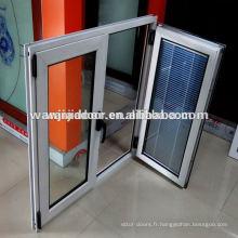 Verres modernes adaptés aux besoins du client français de fenêtre à battant de PVC