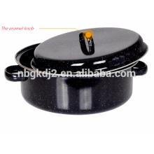 enamel handle and stainless steel rack of carbon steel enamel roast pot