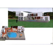 Casa de contenedores / Villa modular (CH-36)