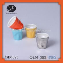 wholesale ceramic cup,mini porcelain cup,drink cup,ceramic cup,color glazed cup