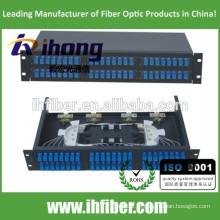 48 portas Fixed Rack-mount Fibra Óptica Patch Panel / mini ODF / caixa de terminais