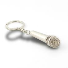Металлические брелки для ключей в форме микрофона в подарок