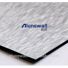 Alunewall A2/B1 grade fireproof Brush color Aluminum plastic composite panel 20 year warranty