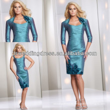 HM2021 Fashion strap long sleeve jacket peacock mother of the bride dress 2012