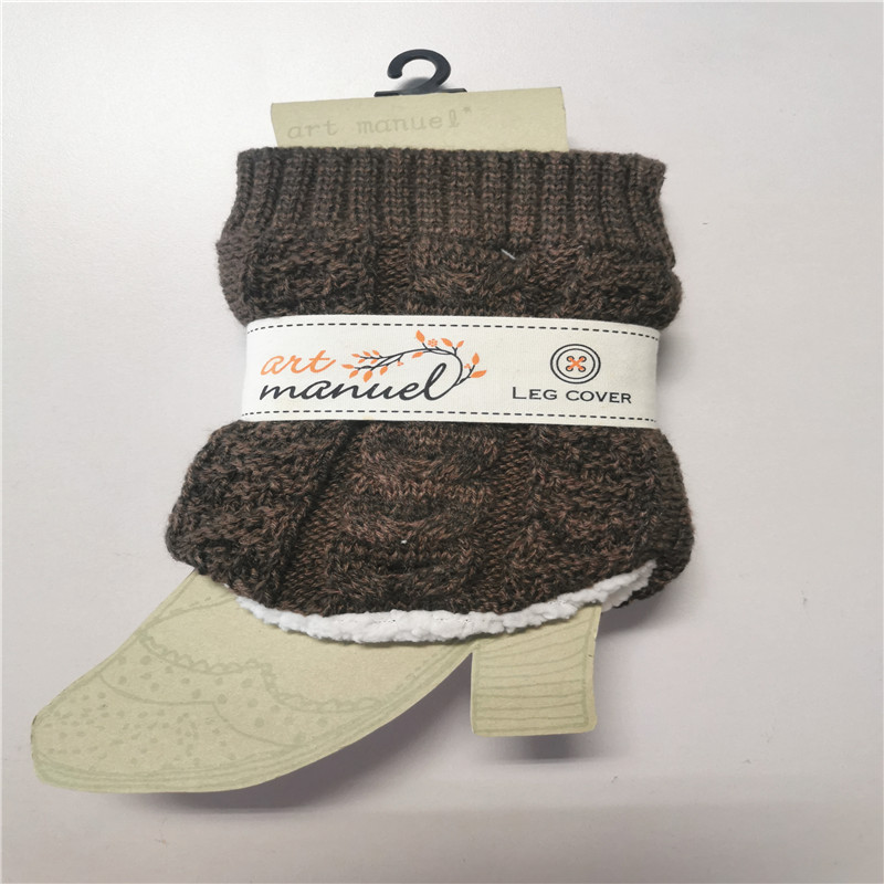 Acrylic Fibers Thicker Lamb Wool Short Leg Warmers