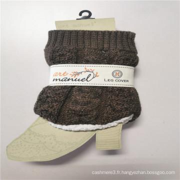 Jambières courtes en laine d'agneau plus épaisses en fibres acryliques