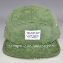 Suede 5 panel hat