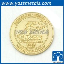 moneda del recuerdo del metal de la moneda del chapado en oro más barato