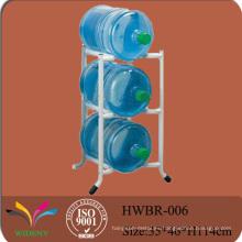 Soporte de exhibición del estante del almacenaje de la botella de agua del grano del metal 5 galón 3
