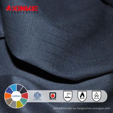 Tela ignífuga negra del algodón al por mayor de la oferta especial para la ropa