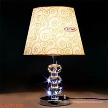 Lampe de table de style chinois pour hôtel classique, lampe de bureau avec cristal 2217