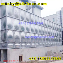 1000 gallons galvanized steel square assembled water tank for firefighting