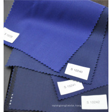 wool polyester blended high quality blue twill fabric for suit uniform