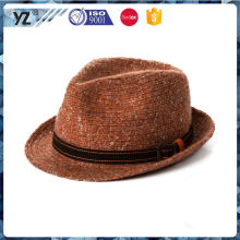 Latest arrival high safety homburg fedora hat from China