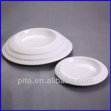 chaozhou porcelain factory wide porcelain round deep plate soup plate