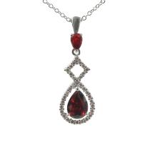 Ruby Teardrop Necklace Pendant