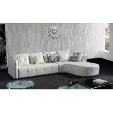 Sofá de sala de estar de couro branco exclusivo KW340