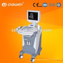 Échographe à ultrasons de chariot à haute résolution et échographe pour le balayage de corps DW350
