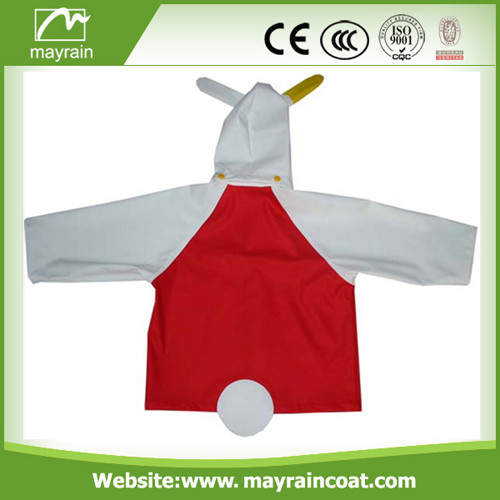 PU Fabric Raincoat for Child