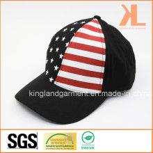 100% Хлопковая дрель США Американский флаг Черный бейсболка