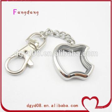wholesale glass locket with keychain