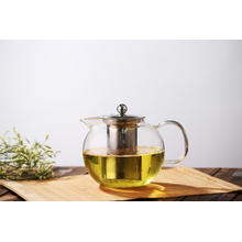 Glass Teapot Blooming Loose Leaf Removable Infuser