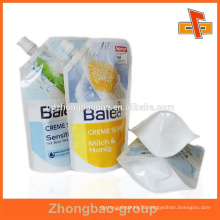 Custom mede high quality juice drink spout pouch bag with print