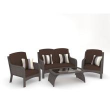 Wicker Möbel 4pc Chat Gartensalon
