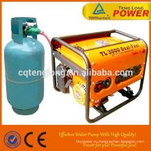 Фаза переменного тока сингл / трехфазные 100% выход 6.5kW LPG мощность генератора