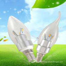 CE & RoHS aprobó las lámparas lechosas de la vela de la decoración casera 3w e14