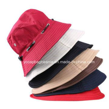 Moda senhoras chapéu de balde de algodão, Wide Brim Sun Hat