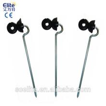 poste de madeira screw-in Isoladores / isoladores do isolador elétrico de cerca / isoladores para linha de cerca / fio / fita