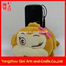 Funny mobile phone holder plush toy monkey phone holder cute stuffed animal cell phone holder
