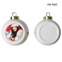 Pendentif Ornement Boule de céramique Sublimation Boules de Noël avec impression personnalisée