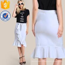 Ruffle Hem Moulante Jupe Fabrication En Gros Mode Femmes Vêtements (TA3095S)