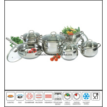 12PCS Stainless Steel Apple Shape Pot