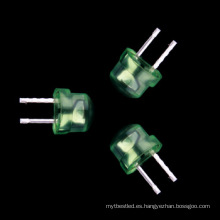 sombrero de paja 4.8mm led verde alta brillante diodo emisor de luz
