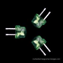 straw hat 4.8mm led green high bright light emitting diode