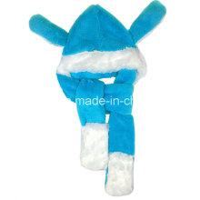 Gants d'écharpe pour chien enfants intégrés avec un chapeau chaleureux