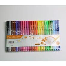 Conjunto de caneta de caligrafia 24pcs Multi cores para o desenho