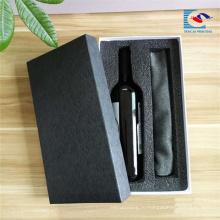 Оптовая роскошный черный специальная коробка бумажного вина картона с самым лучшим ценой