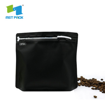 Laminiertes Kunststoffmaterial Kaffeeverpackung Stand Up Bag