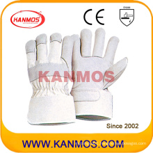 White Cowhide Grain Industrial Safety Leather Work Gloves (120041)