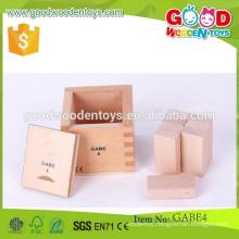 hot selling rectangular prisms toys OEM wooden gabe toys educational gabe toys for child