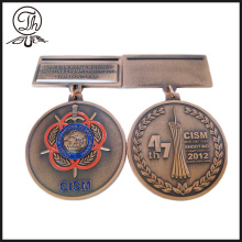 Custom soft enamel medal prize awards standing