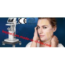 Équipement focalisé de salon de beauté d'ultrason de forte intensité de Hifu pour le système d'effet de levage de triple couche