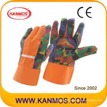 Printed Flower Industrial Safety Cotton Garden Work Gloves (41005)