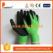 Зеленый нейлон с черной латексной перчаткой Dnl754